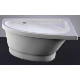 Akmens masės vonia Vispool Mia, 140x90 kairinė balta