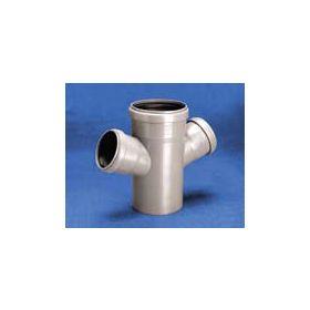 Vidaus kanalizacijos keturšakis WAVIN OPTIMA, d 110-50-50, 67*