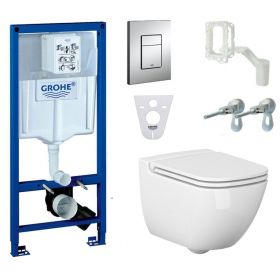 Jaukurai WC komplektas Grohe Rapid SL 5in1 su Cersanit Caspia Clean-On