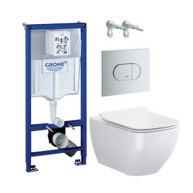 Jaukurai WC rėmo komplektas Grohe Rapid SL su Opoczno Metropolitan
