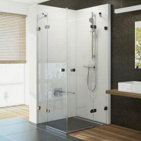 Kvadratinė dušo kabina Ravak Brilliant, BSRV4-100  chromas+stiklas Transparent