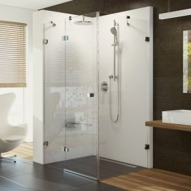 Stačiakampė dušo kabina Ravak Brilliant, BSDPS-80 R chromas+stiklas Transparent