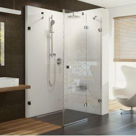 Stačiakampė dušo kabina Ravak Brilliant, BSDPS-110/80 R chromas+stiklas Transparent