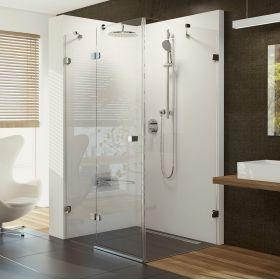 Stačiakampė dušo kabina Ravak Brilliant, BSDPS-120/80 L chromas+stiklas Transparent