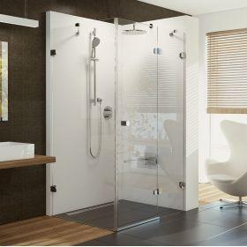 Stačiakampė dušo kabina Ravak Brilliant, BSDPS-120/80 R chromas+stiklas Transparent