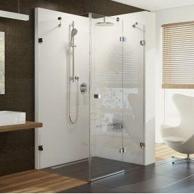 Stačiakampė dušo kabina Ravak Brilliant, BSDPS-120/90 R chromas+stiklas Transparent