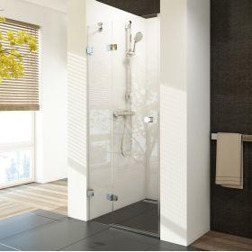 Berėmės dušo durys Ravak Brilliant, BSD2-80 A-L chromas+stiklas Transparent (790-805)