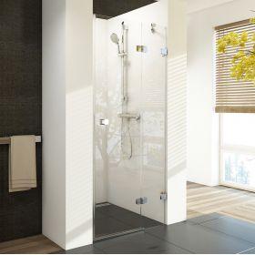 Berėmės dušo durys Ravak Brilliant, BSD2-80 A-R chromas+stiklas Transparent (790-805)
