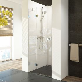 Berėmės dušo durys Ravak Brilliant, BSD2-90 A-L chromas+stiklas Transparent (890-905)