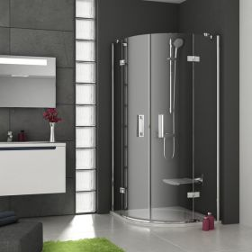 Pusapvalė dušo kabina Ravak SmartLine, SMSKK4-90 chromas+stiklas Transparent