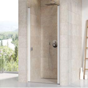 Varstomos dušo durys Ravak Chrome, CSD1-80, balta+stiklas Transparent