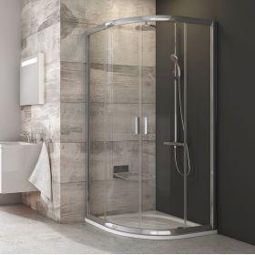 Pusapvalė dušo kabina Ravak Blix, BLCP4-80, blizgi+stiklas Transparent