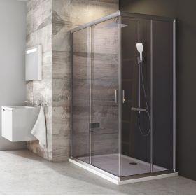 Stačiakampės dušo kabinos sienelė Ravak Blix, BLRV2K-90, satinas+stiklas Transparent