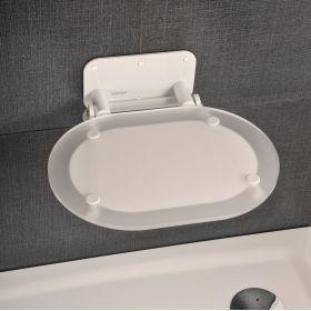 Dušo sėdynė Ravak, Chrome, skaidri/balta