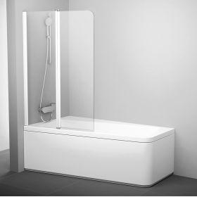 Varstoma vonios sienelė Ravak 10°, 10CVS2-100 L balta+stiklas Transparent