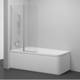 Varstoma vonios sienelė Ravak 10°, 10CVS2-100 L satinas+stiklas Transparent