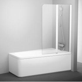 Varstoma vonios sienelė Ravak 10°, 10CVS2-100 R balta+stiklas Transparent