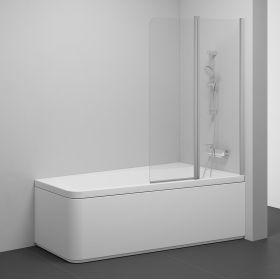 Varstoma vonios sienelė Ravak 10°, 10CVS2-100 R satinas+stiklas Transparent