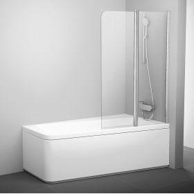 Varstoma vonios sienelė Ravak 10°, 10CVS2-100 R blizgi+stiklas Transparent