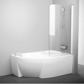 Vonios sienelė Ravak Rosa, CVSK1 140/150, R balta+stiklas Transparent
