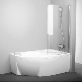 Vonios sienelė Ravak Rosa, CVSK1 140/150, R blizgi+stiklas Transparent