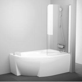 Vonios sienelė Ravak Rosa, CVSK1 160/170, R balta+stiklas Transparent