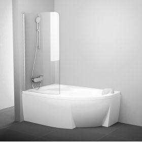 Vonios sienelė Ravak Rosa, CVSK1 160/170, L satinas+stiklas Transparent