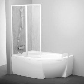 Vonios sienelė Ravak Rosa, VSK2 170, L balta+plastikas Rain