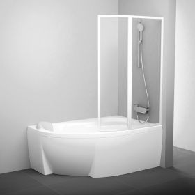 Vonios sienelė Ravak Rosa, VSK2 170, R balta+stiklas Transparent