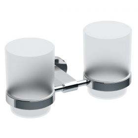 Laikiklis Ravak Chrome, CR 220.00 su dviem stiklinėmis