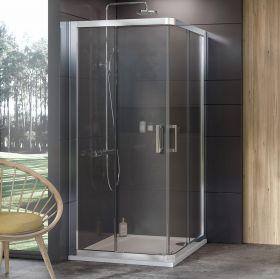Dušo kabina Ravak 10°, 10RV2-80, blizgi+Transparent (dvi sienelės)