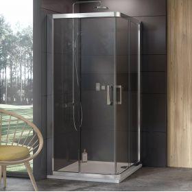 Dušo kabina Ravak 10°, 10RV2-80, satinas+Transparent (dvi sienelės)