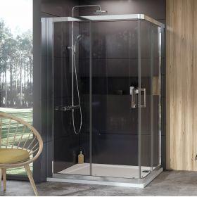 Dušo kabina Ravak 10°, 10RV2K-100, blizgi+Transparent (viena sienelė)