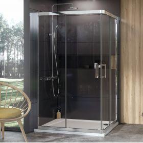 Dušo kabina Ravak 10°, 10RV2K-110, blizgi+Transparent (viena sienelė)