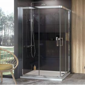 Dušo kabina Ravak 10°, 10RV2K-120, blizgi+Transparent (viena sienelė)
