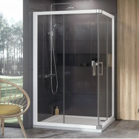 Dušo kabina Ravak 10°, 10RV2K-120, balta+Transparent (viena sienelė)