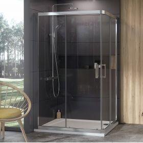 Dušo kabina Ravak 10°, 10RV2K-80, satinas+Transparent (viena sienelė)