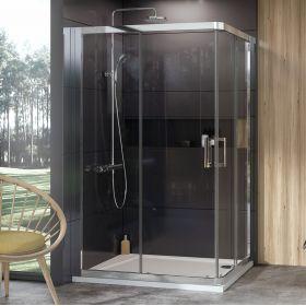 Dušo kabina Ravak 10°, 10RV2K-90, blizgi+Transparent (viena sienelė)