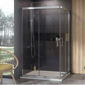 Dušo kabina Ravak 10°, 10RV2K-90, satinas+Transparent (viena sienelė)