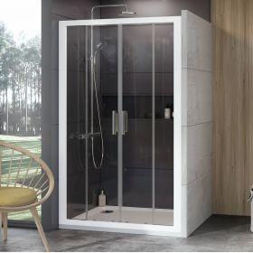 Stumdomos dušo durys Ravak 10°, 10DP4-160, balta+Transparent