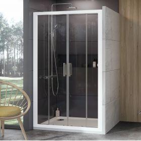 Stumdomos dušo durys Ravak 10°, 10DP4-200, balta+Transparent