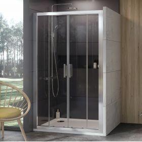 Stumdomos dušo durys Ravak 10°, 10DP4-120, satinas+Transparent