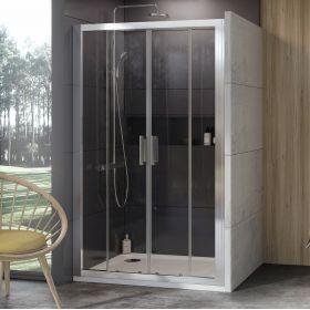 Stumdomos dušo durys Ravak 10°, 10DP4-160, satinas+Transparent