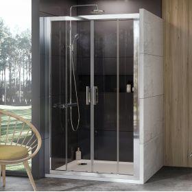 Stumdomos dušo durys Ravak 10°, 10DP4-200, blizgi+Transparent