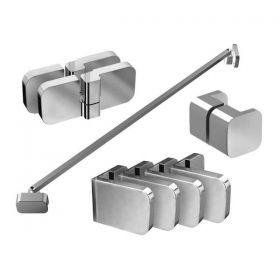 Montavimo rinkinys dušo kabinoms ir sienelėms Ravak Brilliant ir Walk-In, B SET, BSDPS-R 80, 90 chromas