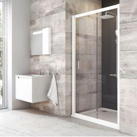 Stumdomos dušo durys Ravak Blix, BLDP2-100, balta+stiklas Transparent
