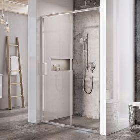 Stumdomos dušo durys Ravak Blix Slim, BLSDP2-120 blizgus +Transparent
