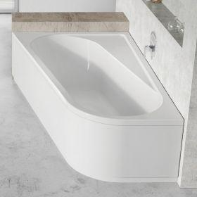 Asimetrinė vonia Ravak Chrome, 170x105, kairinė