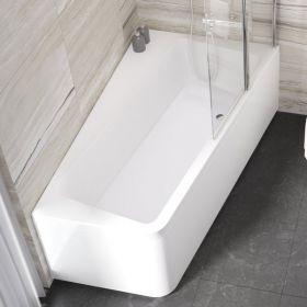 Asimetrinė vonia Ravak 10°, 170x100, dešininė