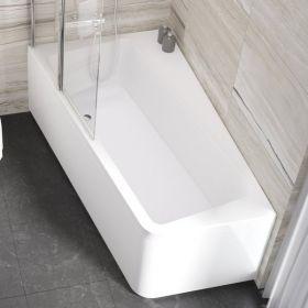Asimetrinė vonia Ravak 10°, 160x95, kairinė